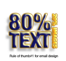Make your email 80 20 text and images